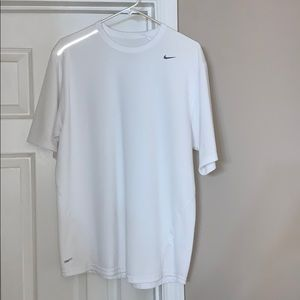 Nike FitDry tee with reflecting shoulder stripes